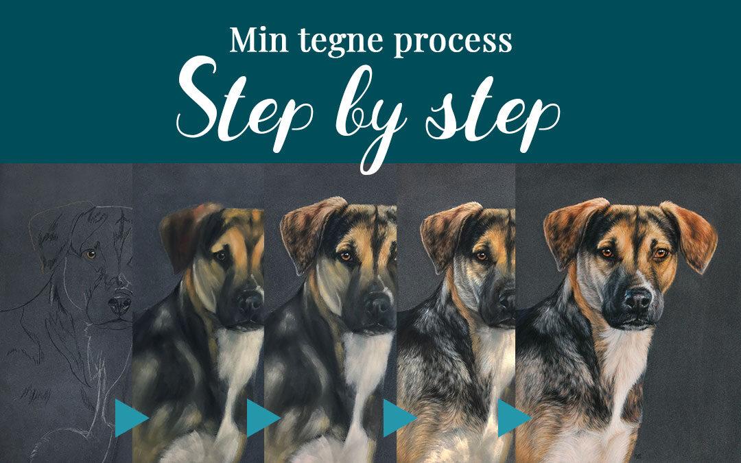 Min tegne process: Step by step